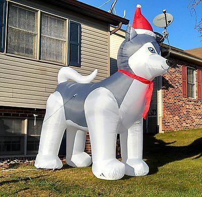 yard inflatable dog