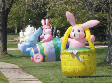 easter yard inflatables