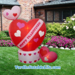animated hearts yard inflatable