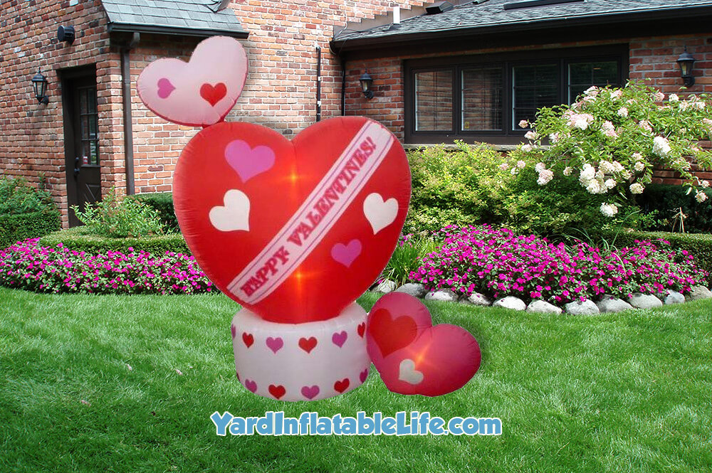 Great Animated Hearts Yard Inflatable