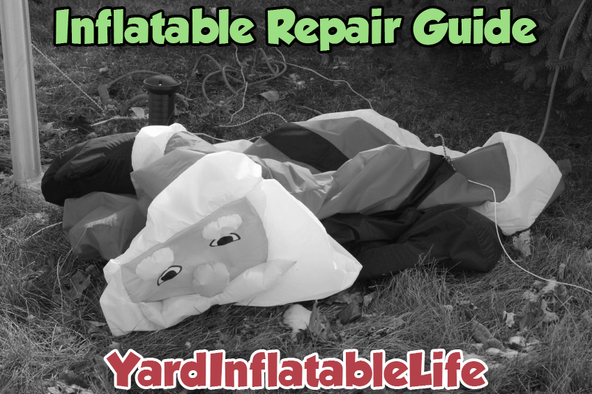 yard inflatable repair guide how to