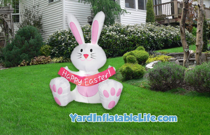 easter bunny inflatable banner