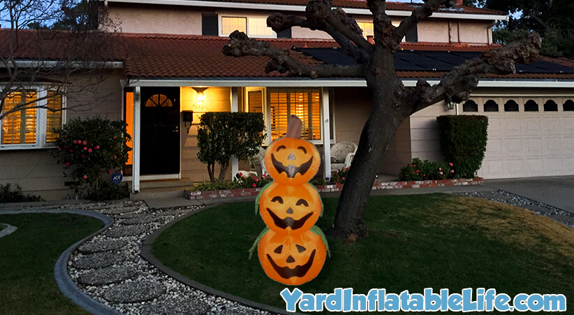 stacked jack-o-lanterns yard inflatable halloween