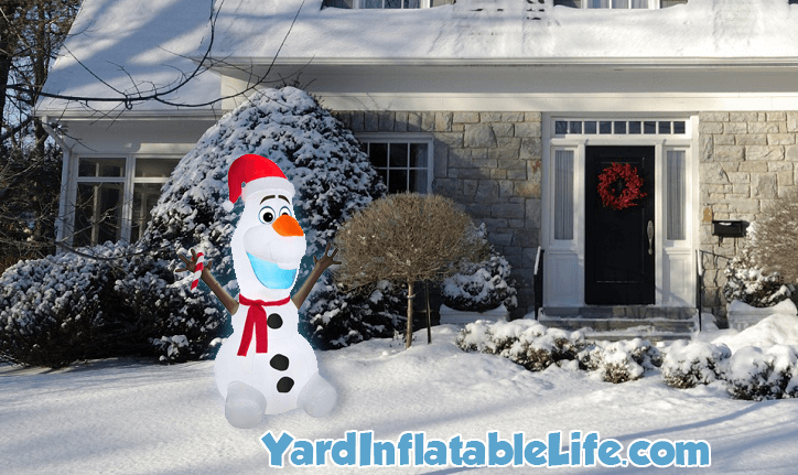 christmas olaf frozen inflatable