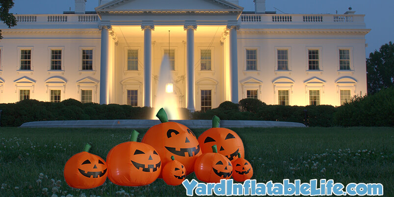 pumpkin family halloween inflatable