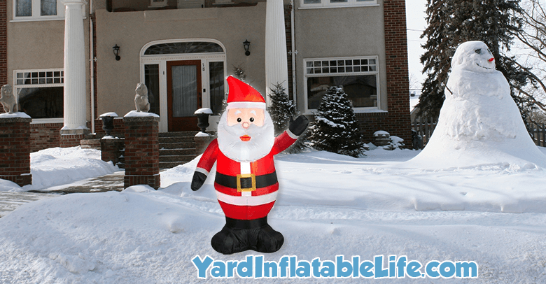santa yard inflatable
