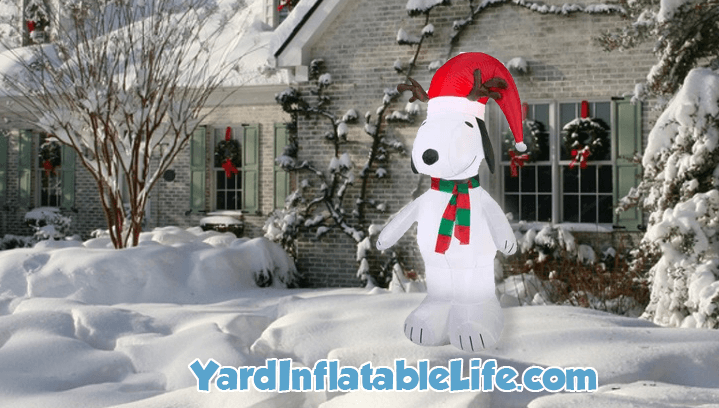 christmas snoopy inflatable
