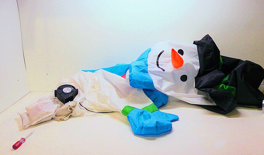 snowman inflatable repairs