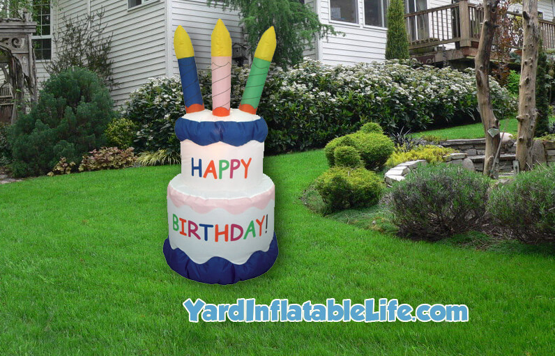 happy birthday yard inflatable