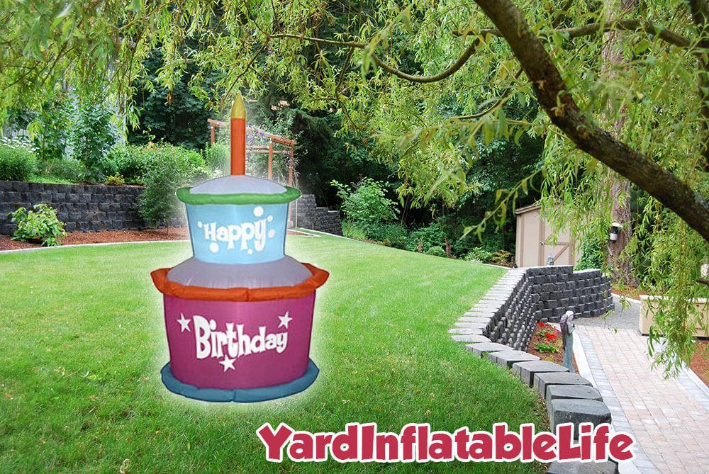gemmy cake inflatable happy birthday