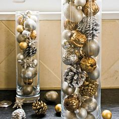 holiday decor gold silver